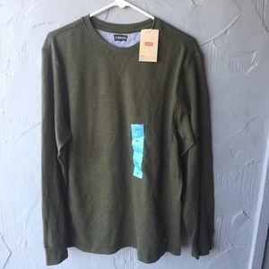 NWT Levi's long sleeve online green size large